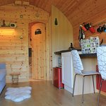 The beautiful interior of the pod at Hoe Grange Holidays