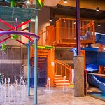 Brand new cork screw water slide and family Splash Zone