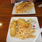 This was the Snapper & Chips we had. Yum!