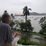 Watching ships entering the Panama Canal in early morning.