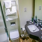 Compact but immaculate / walk in shower - no bath.. (room 222)