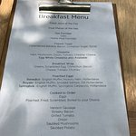 Food menus for breakfast, lunch and dinner