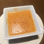 Soup of the day... super warm and tasty with perfect spicy seasoning