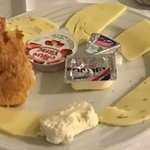 Assorted cheeses with breakfast