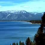 View of Lake Tahoe on the way to Emerald Bay state Park