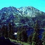 Snowy hills around Emerald bay