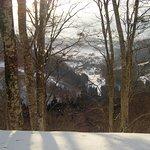 View of Nozawa Onsen from the ski slopes