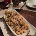 Truffle Mac and Cheese and the Pork Belly Appetizer