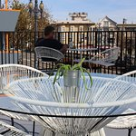 Sundeck Overlooking Market St. and Courtyard Parking Lot