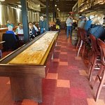 The shuffleboard table just as you walk in