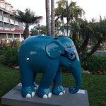 An elephant statue