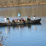 George Washington's Boat crossing the River
