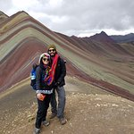 My fiancé and I at the top of Rainbow Mountain! Note: Freddy is the best photographer.
