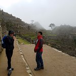 Having a good time at Machu Pichu With our guide Fredy
