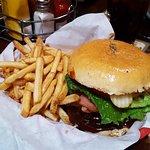 Full size BBQ burger