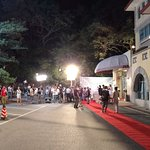 Shooting a TV drama in the evening