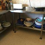 Plenty of crockeries and utensils in the kitchen