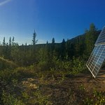 Solar panels provide Iniakuk Lodge with 24 hour electricity