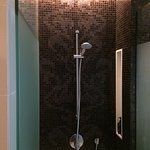 glass door shower place