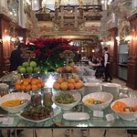 Beginning of Buffet Table for Breakfast at Cafe New York in the Boscolo Hotel, Budapest Hungary