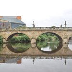 Views of The Welsh and English bridges and sights along the River Severn from Sabrina