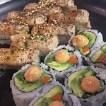 Sashimi and Spicy Veggie Roll