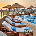 The Roof Top with an amazing pool bar over looking the magnificent Nile view