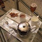 Tea, beer, biscuits on arrival