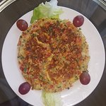 The healthy omelette with rich veg.. a healthy meal