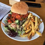 Falafel burger with chilli
