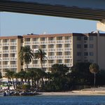 This is a photo of Dreamview Hotel. It was taken from the boat we were on for the dolphin watch.