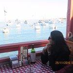 Family lunch at Antonio's Pizzeria at Avalon, Catalina Island.