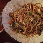 Noodles with rib-eye steak