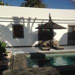 Villa garden and splash pool