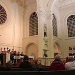 Church interior showing brilliant choir