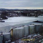 Tank farm and view of Brewer and I-395 bridge in late December.