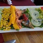 Nicely presented; good variety of salad dressings