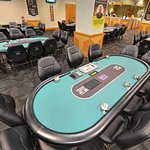 New poker room table tops.
