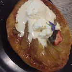 Salted caramel mousse & chocolate dirt, chicken & seafood laksa, French pear tart with chantilly