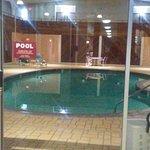 Indoor heated pool, alas, no hot tub