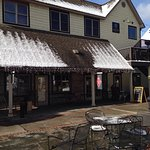 Great cooking, back porch, coffee roaster, outside seating, friendly staff