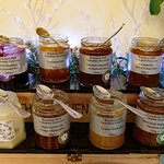 locally sourced preserves and honey