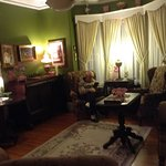 parlor for wine and cheese, reading, and conversation