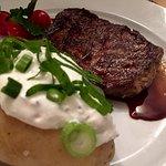 Rib Eye Steak mit Baked Potato