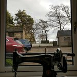 View into courtyard from living room Ryehill Farm Slaley