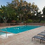 The pool provides easy access with a ramp and is host to our many pool classes.