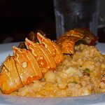 Lobster and shrimp creamy risotto.