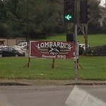 Outside Lombardi's BBQ Deli in Petaluma.