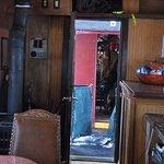 An inside the train car look