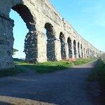 Aqueduct of Claudius in countryside near Rome
